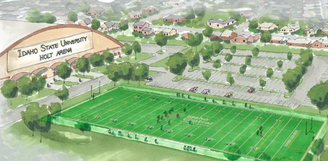 idaho state university turf field rendering