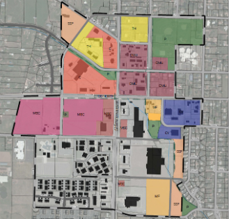 north ogden towntown map showing community planning